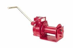 """Guincho de manivela de engrenagem de sem-fim - 2000 lbs Capacidade de tração de linha - 1 / 4 """"Diâmetro de cabo - Vermelho"""