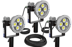 240W Explosion Proof Pole Top AC LED String Light - C1D1/C2D1 - Group B + ATEX/IECEX - 100' SOOW Cord