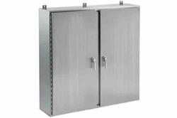 """304 Stainless Steel Enclosure - 36 """"x 42"""" x 12 """"- Double Door - NEMA 4X"""