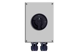 Guhertina Daxuyaniya Ne-Fuse - Switch Isolator - Three Pole - 200A - 415V Rated - (1) Têkiliya Alîkarê vekirî - Steel Steel