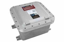 "Explosion Proof Enclosure - 8""x8""x6"" Internal Dims - Surface Mount, Aluminum Back Plate - (2) Hubs"
