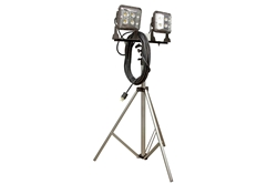 120W LED Flood Lights on Telescoping Tripod - Extends 3.5' to 10' - (2) LED Lamps - 50' Cord