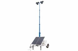 12'-50 'Solar Light Tower - Reboque 7.5' - (6) 240W Lâmpadas LED - Gerador de Gás de Backup