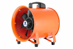 1 / 3 Ventilador de extracción de ventilación portátil a prueba de explosiones HP - C1D1 / C2D1 - 120V - 1650 CFM - Cable 15 'con tapa de cable EXP