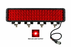 LED Emitter - 80 Red LEDs - 20 x 4 LED Array - 14,400 Lumen - 1750'L x 300'W Beam - Extreme Environment