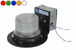 Class 1 LED Beacon with 30 Strobing Light Patterns - Surface Mount - 120-240V AC - Connects to Existing Call Stations
