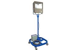 Luz de inundação portátil de iodetos metálicos 1000W com reator remoto - Lumens 110,000 - Cabo 50 '