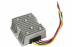 Encapsulated DC to DC Step Up Transformer - 12V DC to 16V DC - 10 Amps - Flying Leads - Waterproof