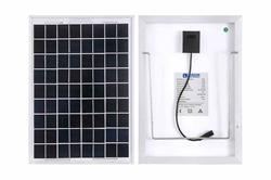 10W Tüm Hava Durumu Güneş Paneli - 12V - 16.4 'Kablo, Timsah Klipsli - Alüminyum Çerçeve