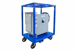 *RENT* 112.5 KVA Portable Power Distribution Transformer - 480V to 240D/120V 3PH - (20) 20A 250V Breakers - N3R