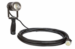 18 Watt Handheld LED Spotlight for Industrial Lighting -Articulating Head- Polycarbonate Handle IP65