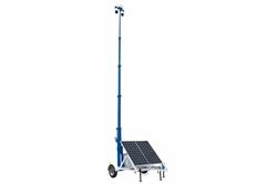 Torre de segurança solar portátil 45 - Trailer 7.5 - câmeras IP (2), NVUMXTB NVR - Roteador / ponto de acesso 2G - Gen de gás de backup