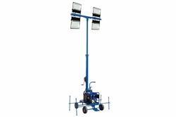 Mini torre de luz LED não rebocável 20ft com gerador de gás - lâmpadas LED (4) - 80,000 lms