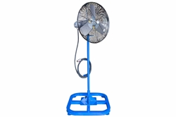 "24"" Electric Explosion Proof Fan on Stand - 7980 CFM - 24 inch - Pedestal Mount - 50' Cord - C1D1 - CPP516 Pin/Sleeve Cord Cap"
