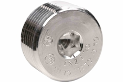 1/2'' NPT Threaded Recessed Aluminum Conduit Plug for Explosion Proof Junction Boxes