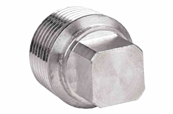 1'' NPT Threaded Closed Aluminum Conduit Plug for Explosion Proof Junction Boxes - External Square Head