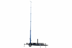 50 Foot Telescoping Megatower®- 15-50' Fold Over Five Stage Light Tower - 16' Trailer - (4) Outriggers w/ Feet