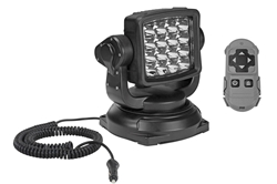 40W Golight Radioray Portable LED Remote Control Spotlight - 544,000 Candela - Magnetic Shoe - White
