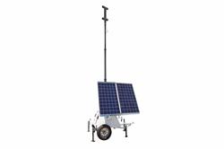 600 وات خورشیدی ژنراتور با برج برج نور - براکت نصب T-Head شامل - 24 ولت - فولاد