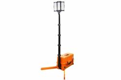 Menara Lampu LED Darurat Portabel 108W - 10,000 Lumens - Port USB & Soket 12V - Menara Tinggi 8 '