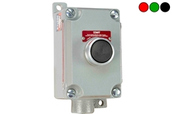10A Explosion Proof Push Button Switch - Class I, II, III - 600V Rated, Momentary - NO Contacts/Abort Label