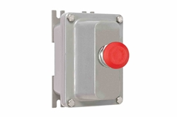 10A Explosion Proof Push Button Mushroom Switch Enclosure - Class I, II, III - Low Voltage - Red Button