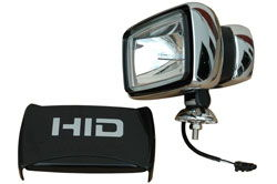 Acro HID Off Road Spotlight - Internal Ballast - 2700' Spot Beam - Chrome Housing - 35 Watt