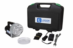24 Watt Rechargeable Handheld LED Spotlight - 2700 Lumens - Li-Ion Battery - 3000' Spot - 220/240V