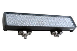 LED light - 80 LEDs - 20 by 4 LED array - 240 Watts - 14,400 Lumens - IP68 - 1750 X 300 Foot Beam