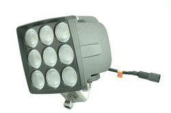 90 Watt LED light Produces 7200 lumens – Permanent Mount – 2400' X 140' spot or 1500' X 250' flood