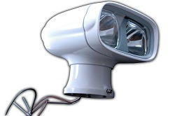Wireless Remote Control Dual Beam Searchlight - stainless steel housing