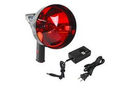 5 Million Candlepower Handheld Rechargeable Spotlight - Red Hunting Lens - Spot/Flood