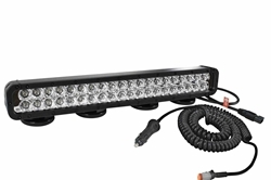 120 Watt LED light with Magnetic Mount and Coil Cord w/ Cig plug - 7200 lumens - 9-42 volts