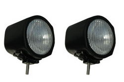 100w Halogen Off Road Lights with Cast Aluminum Housing and Tungsten Bulb - PAIR OF LIGHTS