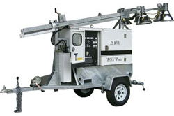 11,000 Watt Generator - Water cooled Diesel Engine - 30 'Tîlo Telescoping - 6 Sodium High Pressure