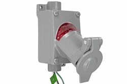 20A Explosion Proof Outlet - Class I, II, II - 2P3W - Straight Blade/Delayed Action - NEMA