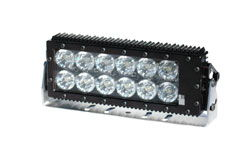 LED Light Bar contains twelve 10-watt high powered LEDs providing 120 watts of LED light power, producing 10800 lumens of LED light and drawing only 10 amps on 12 volts.