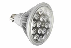 30 Watt LED PAR 38 Spot / Flood Light - 1800 Lumens - Dimmable by Voltage Regulation