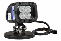 LED Light Emitter w/ Magnetic Mount Base - 12 Watts - 90'L X 70'W Spot Beam - 720 Lumen - 9-42VDC