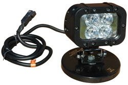 Infrared LED Light Emitter - Extreme Environment - Magnetic Base - 90'L X 70'W Spot Beam - 12 Watts