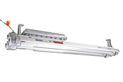 Explosion Proof Emergency Fluorescent Light Combination - 4 foot - 2 T8 lamps - Class I, Div I