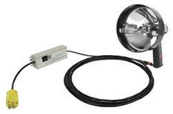 100W Halogen Handheld Spotlight - 110VAC - Spot / Flood Combo - 900 'Beam - Lightweight