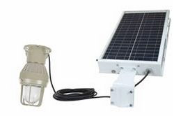 Solar Power LED Explosion Proof Light - C1D1 - 30' 12/2 SOOW Cord - Day/Night Sensor - 12hr Runtime