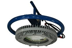 Clase I, Div. I Luz LED a prueba de explosiones con carrete de cable - Montaje de pozo - 16,000 Lumen - Cable 50