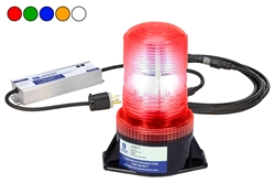 120VAC LED Strobe Light - Permanent Mount - 18 LED Beacon - 50,000 Life Hours