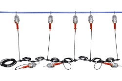 Explosion Proof String Lights - 8 Drop Lights - Class 1/II, Division 1