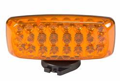 Amber LED Strobe Light w / Back & Base magnetmikrosüsteem - 24 LEDid - 4AA patareid - Strobe & Steady