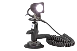 10 Watt LED Spotlight on Suction Cup Mount - 9-48VDC - 225' Spot Beam - 900 Lumen - 10 Watts
