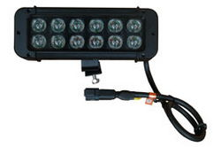 High Intensity Colored LED Light Emitter - 12, 3-Watt LEDs - 9-32VDC - IP68 - 2736 Lumens
