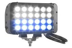 LED Light Emitter - 12 Blue LEDs, 12 White LEDs - 72 Watts - 800'L X 100'W Spot Beam -  9-42VDC